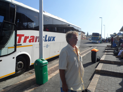 leaving East London on a Translux bus