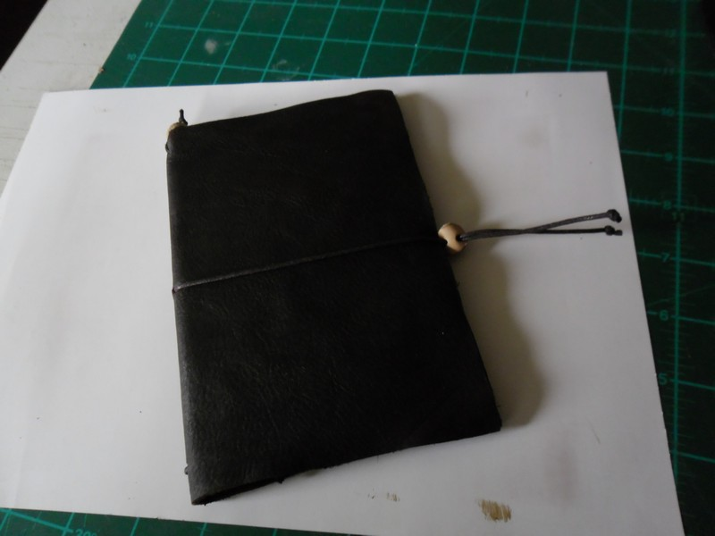 Leather book cover completed