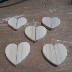 "Sanding of the ""half-hearts"" completed"