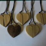matching valentines heart pendants  - 00021