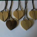 matching valentines heart pendants  - 00021