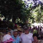Busy Yellowwood Forest Market in Morgan Bay - at a Christmas Market at Yellowwood Forest on 23 December 2014