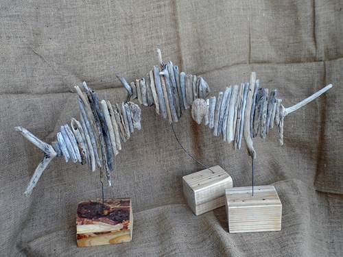 Driftwood fish for sale in South Africa by Terry and Tony - R130 each, roughly 30cm wide