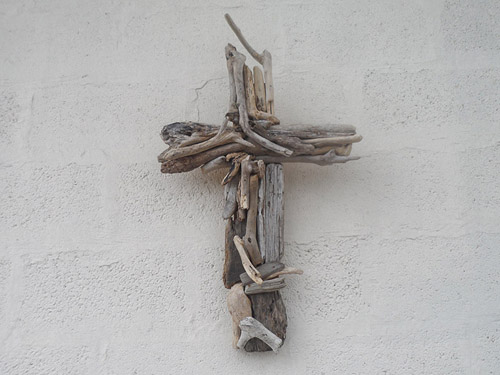 driftwood cross wall hanging